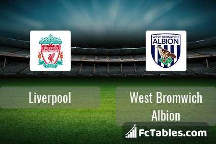 Liverpool FC West Bromwich Albion H2H
