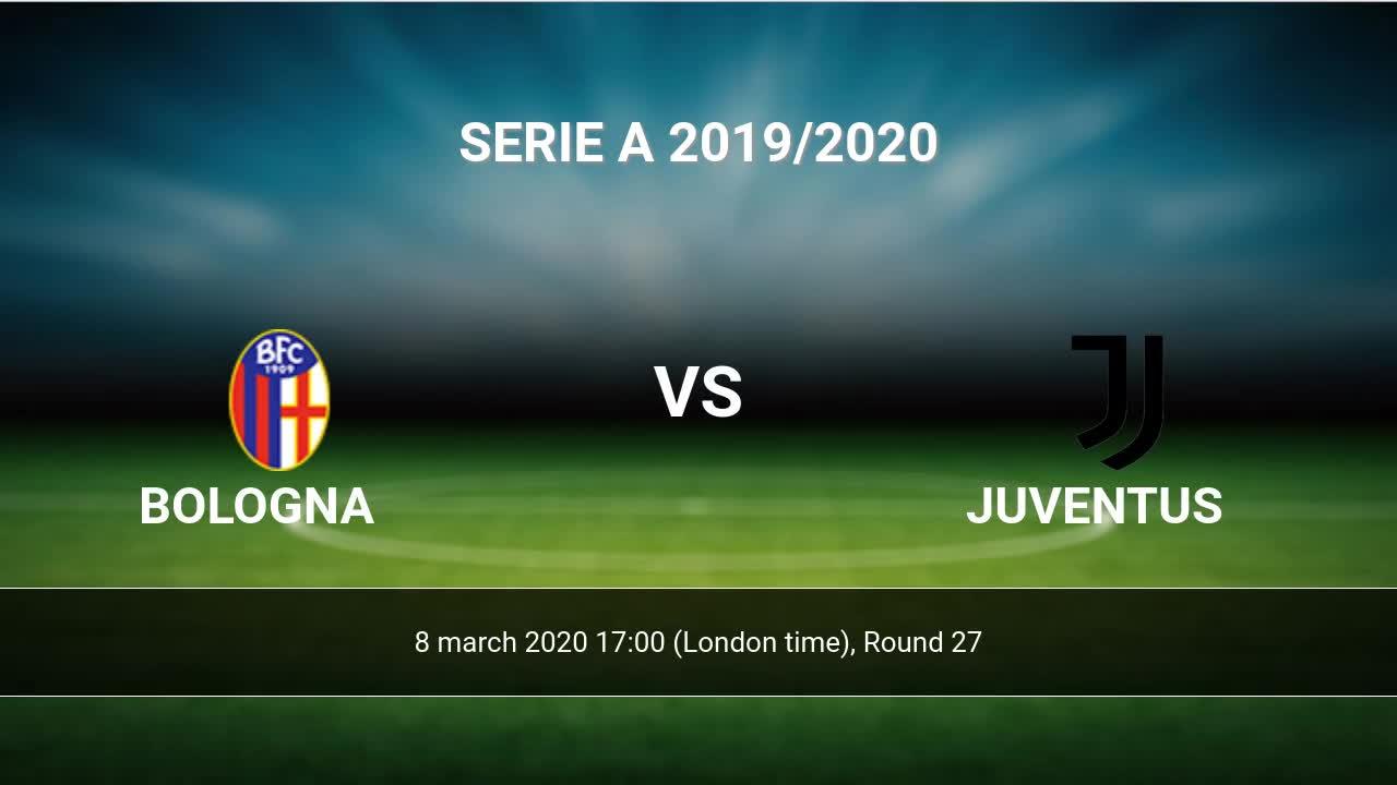 Bologna Juventus Livescores Result Serie A 22 Jun 2020