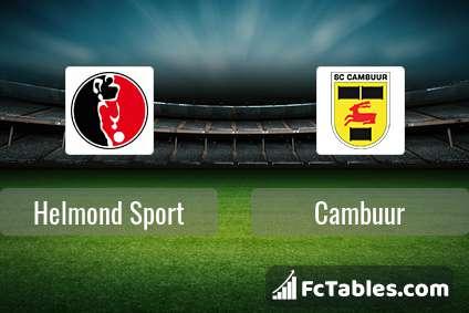 Helmond Sport Vs Cambuur H2h 6 Oct 2020 Head To Head Stats Prediction