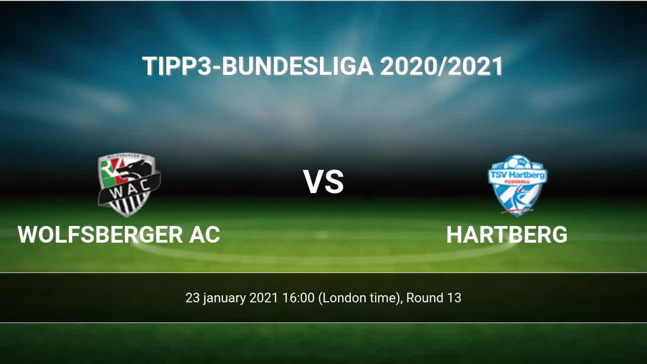 Wolfsberger Ac Vs Hartberg H2h 23 Jan 2021 Head To Head Stats Prediction