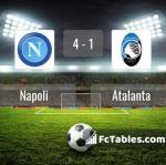 Match image with score Napoli - Atalanta