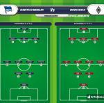 Lineup image Hertha Berlin - Borussia Moenchengladbach
