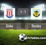 Match image with score Stoke - Burnley