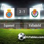 Match image with score Espanyol - Valladolid