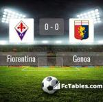 Match image with score Fiorentina - Genoa