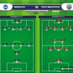Lineup image Brighton - West Bromwich Albion