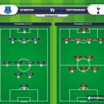 Lineup image Everton - Tottenham