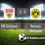Match image with score VfB Stuttgart - Borussia Dortmund