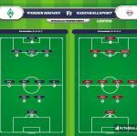 Lineup image Werder Bremen - RasenBallsport Leipzig