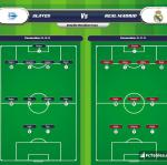 Lineup image Alaves - Real Madrid