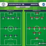 Lineup image Manchester City - Brighton