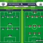 Lineup image West Bromwich Albion - Newcastle United