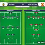 Lineup image Burnley - Manchester United