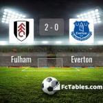 Match image with score Fulham - Everton