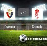 Match image with score Osasuna - Granada