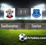 Match image with score Southampton - Everton