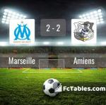 Match image with score Marseille - Amiens