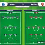 Lineup image Everton - Arsenal