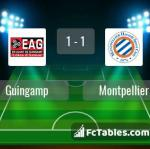 Match image with score Guingamp - Montpellier
