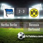 Match image with score Hertha Berlin - Borussia Dortmund