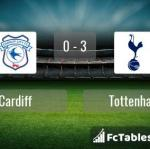 Match image with score Cardiff - Tottenham