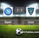 Match image with score Napoli - Lecce