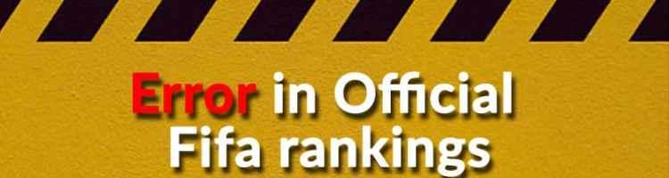 Błąd w oficjalnym rankingu FIFA
