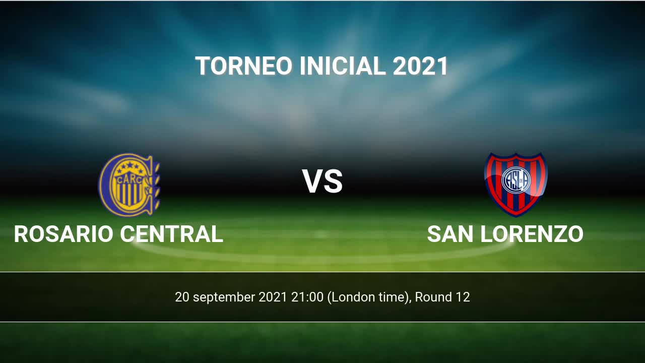 Rosario Central vs San Lorenzo H20H 200 sep 200201 Head to Head stats ...