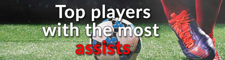 Check players with the most assists in the world