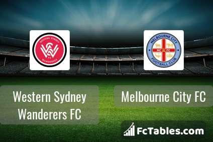Western Sydney Wanderers FC Melbourne City FC H2H
