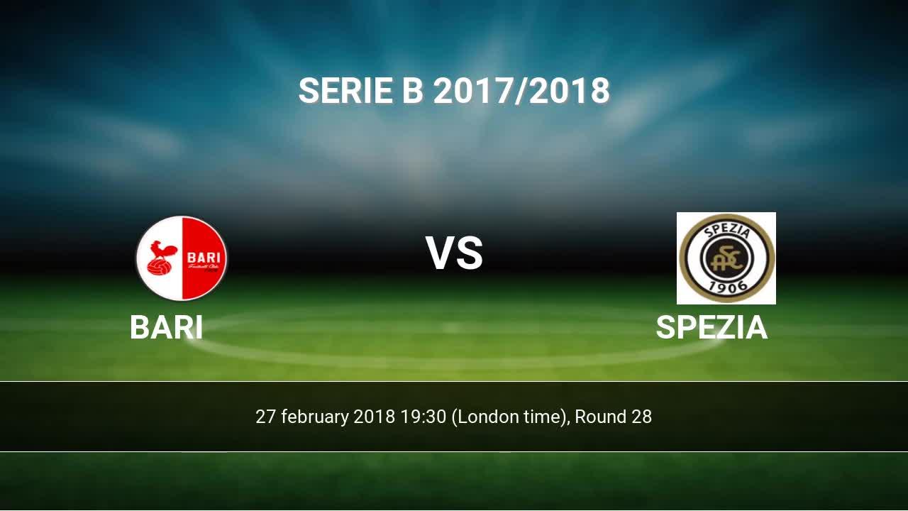 Spezia vs bari betting expert panthers broncos betting