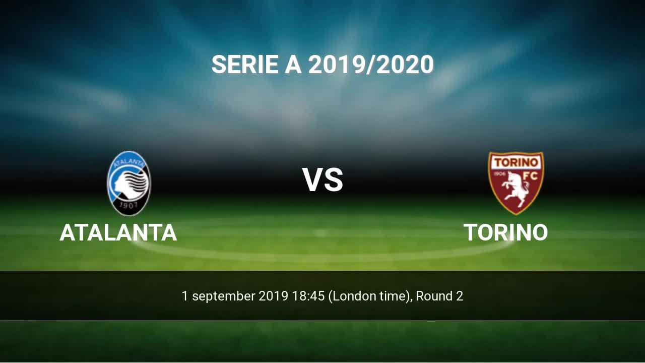 Atalanta vs Torino H2H 1 sep 2019 Head to Head stats predictions