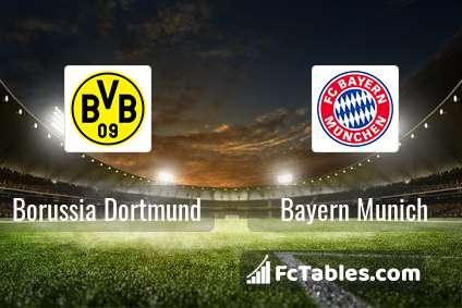 Borussia Dortmund vs Bayern Munich H2H 3 aug 2019 Head to Head stats