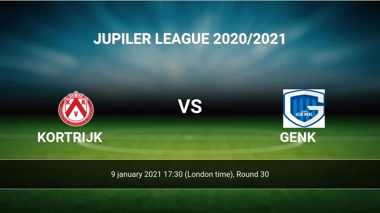 Kortrijk vs Genk H2H 9 jan 2021 Head to Head stats prediction